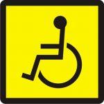 Uzlīme - pazīšanas zīme par to, ka vadītājs ir invalīds