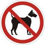 Uzlīme - aizlieguma zīme - suņiem ienākt aizliegts