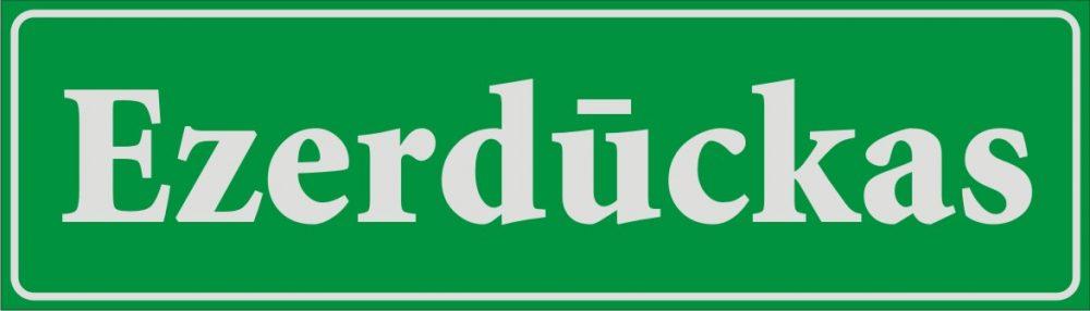Māju nosaukuma plāksne (1) - atstarojošs baltā krāsā uzraksts uz zaļa fona - 160x560mm