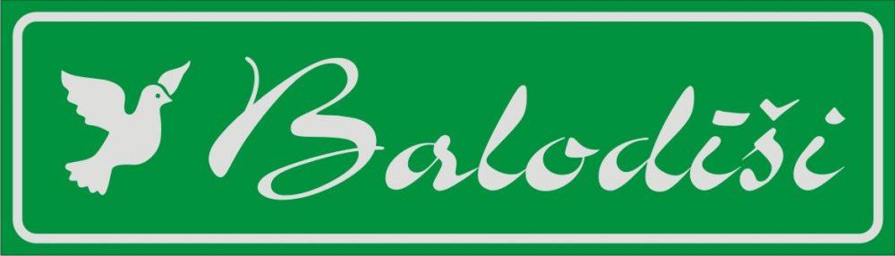 Māju nosaukuma plāksne (2) - atstarojošs baltā krāsā uzraksts uz zaļa fona - 160x560mm