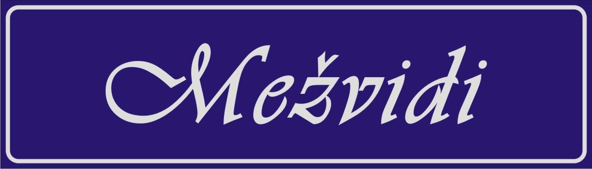 Māju nosaukuma plāksne (4) - atstarojošs baltā krāsā uzraksts uz zila fona - 160x560mm