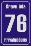Māju numuru plāksne 320x440, atstarojoša, lakota