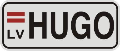 Vārda zīme VĀRDS uz balta atstarojoša fona - 60x140mm