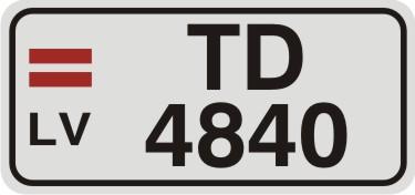 Vārda zīme NUMURS - 2 rindās - uz balta atstarojoša fona - 62x132mm