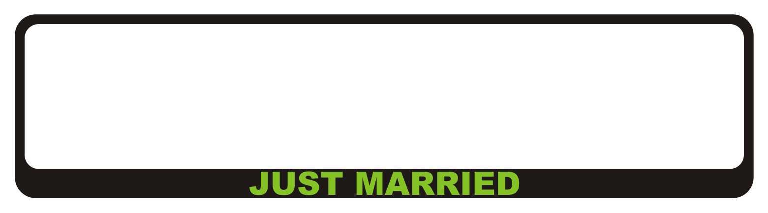 LATSIGN-Auto-numura-turetajs-paliktnis-kazas-laulibas-Just-Married