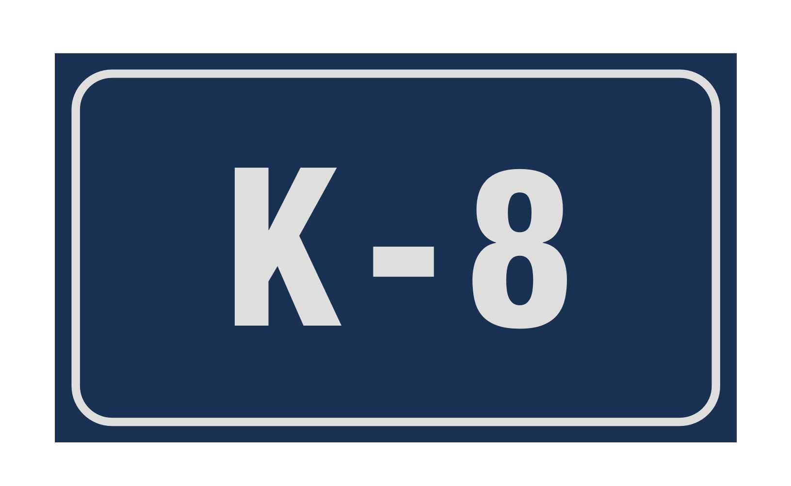 LATSIGN Mājas numura plāksne, korpuss Riga. Izmērs - 160 x 280 milimetri