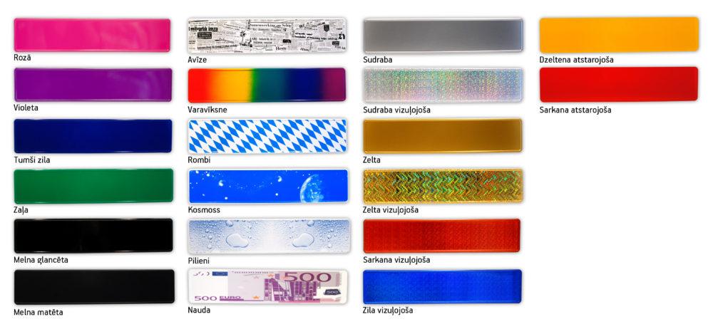 LATSIGN Vārda zīmju pamatņu krāsu paraugi