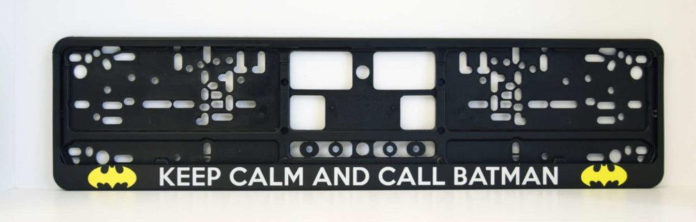LATSIGN Auto numura turētājs ar uzrakstu - Keep calm and call Batman