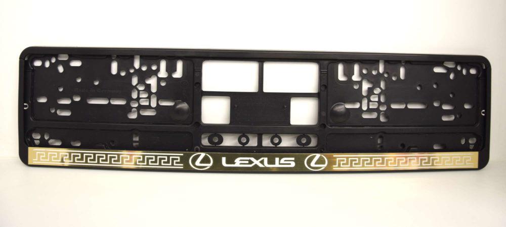 LATSIGN melns auto numura turetajs paliktnis ar uzsrakstu Lexus