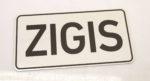 LATSIGN Informatīvā ratiņu vārda numura zīme - Zigis