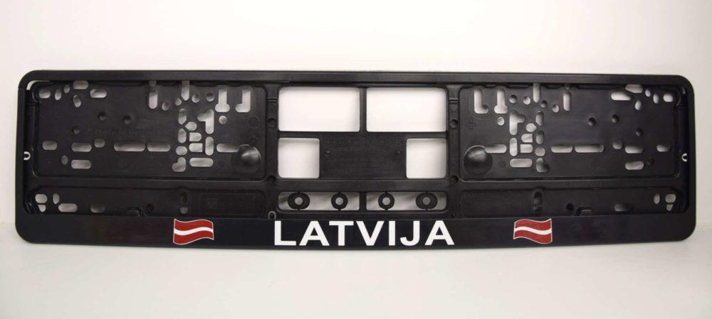 LATSIGN Auto numura turētājs ar Latvijas karogu un uzrakstu - Latvija