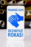 LATSIGN Informatīvā zīme - Pasargā sevi! Dezinficē rokas!