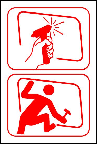 LATSIGN uzlīme - Avārijas izeja