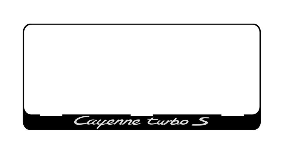 LATSIGN Auto numura turētājs E tipa numura zīmēm ar dekoratīvu uzrakstu baltā krāsā