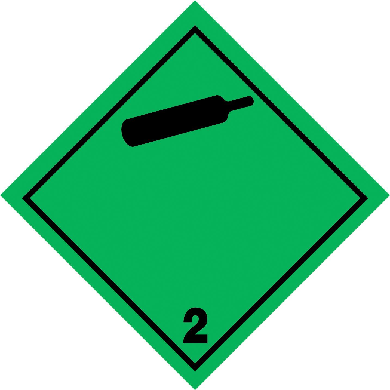 LATSIGN uzlīme ADR kravas pārvadāšanai - Neuzliesmojošas netoksiskas gāzes