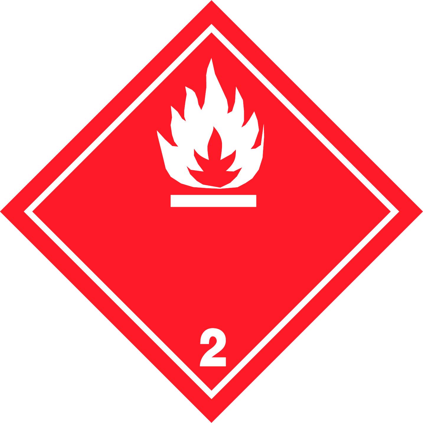 LATSIGN uzlīme ADR kravas pārvadāšanai - Uzliesmojošas gāzes