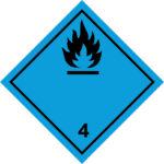 LATSIGN uzlīme ADR kravas pārvadāšanai - Pašuzliesmojošas vielas