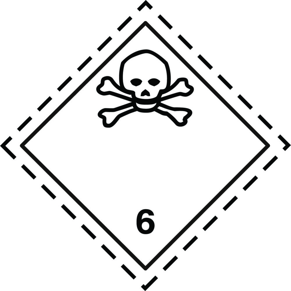 LATSIGN uzlīme ADR kravas pārvadāšanai - Indīgas, toksiskas vielas