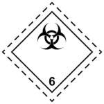 LATSIGN uzlīme ADR kravas pārvadāšanai - Infekciozas vielas
