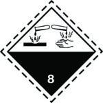LATSIGN uzlīme ADR kravas pārvadāšanai - Korozīvas vielas