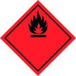 LATSIGN uzlīme ADR kravas pārvadāšanai - Uzliesmojošas vielas