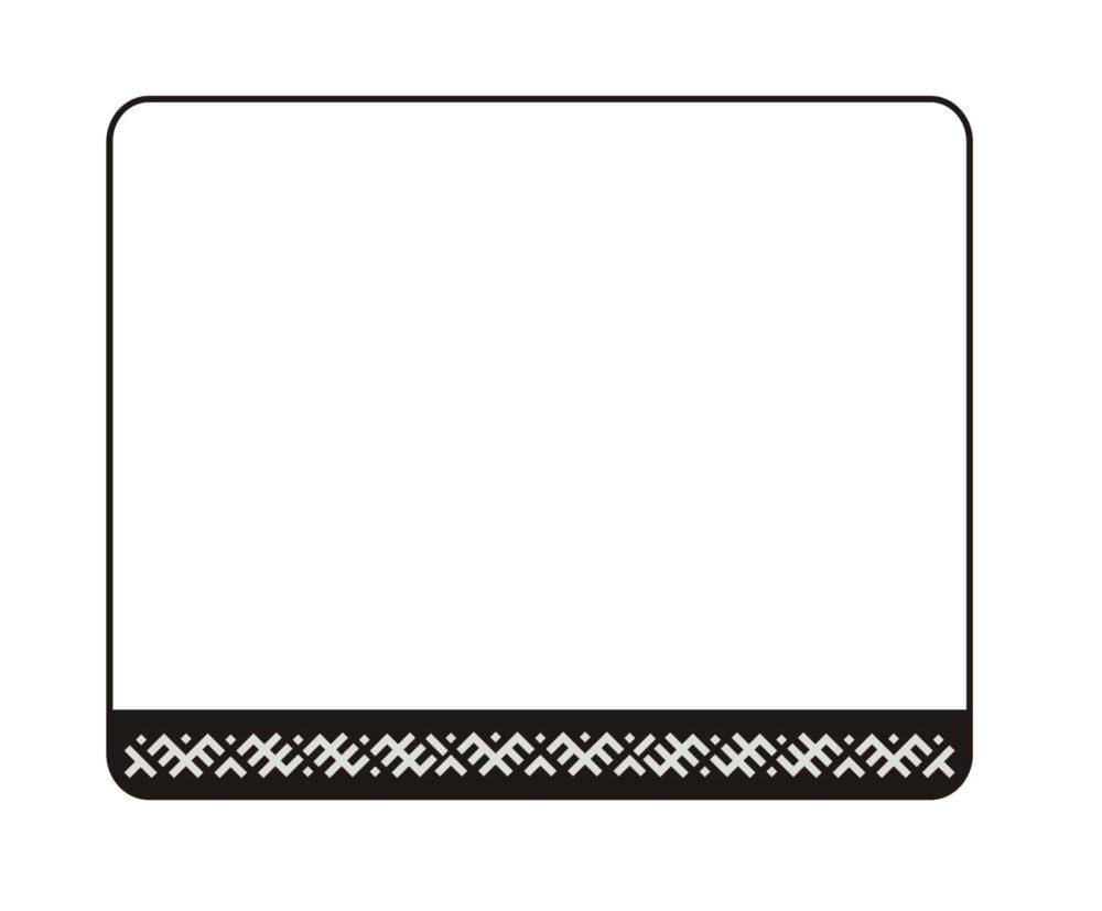 LATSIGN Vācu kvalitātes B tipa auto numura turētājs ar latvju rakstiem baltā krāsā
