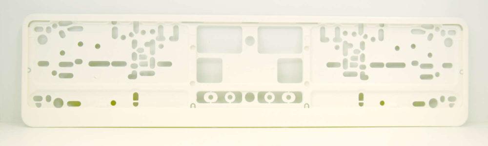 LATSIGN Auto numura turētājs baltā krāsā