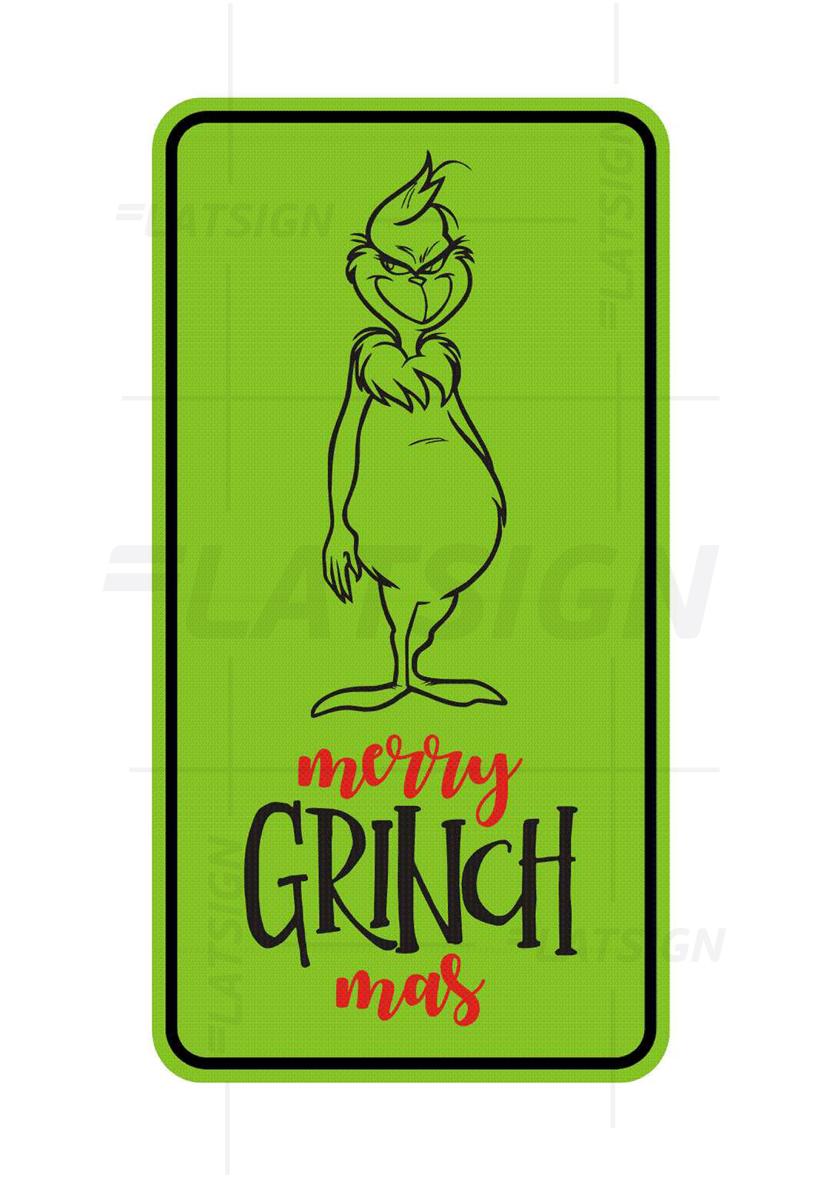 LATSIGN Ziemassvētku informatīvā zīme - Merry Grinch mas