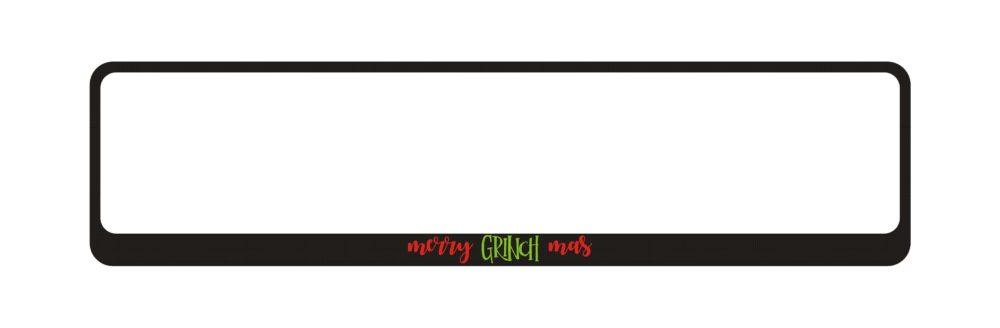 LATSIGN Auto numura turētājs - Merry Grinch Mas