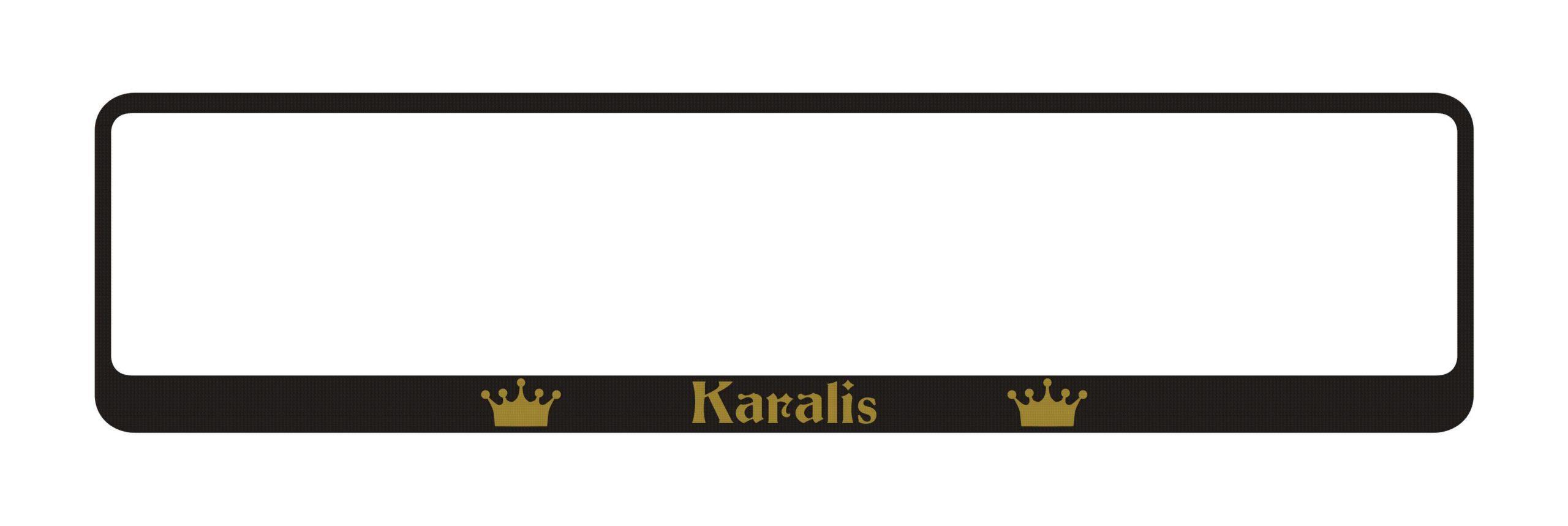 LATSIGN Auto numura turētājs ar uzrakstu - Karalis