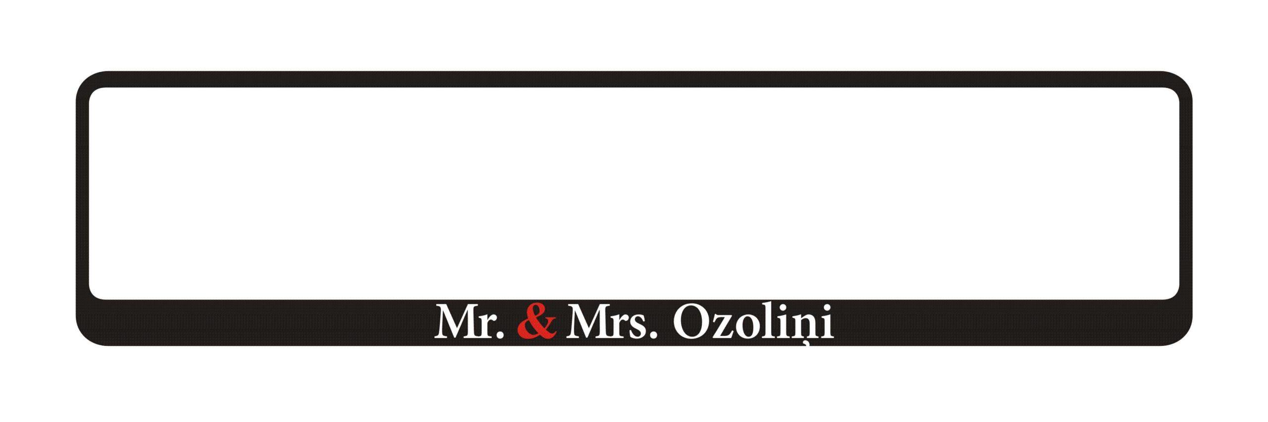 LATSIGN Auto numura turētājs ar uzrakstu - Mr. & Mrs.