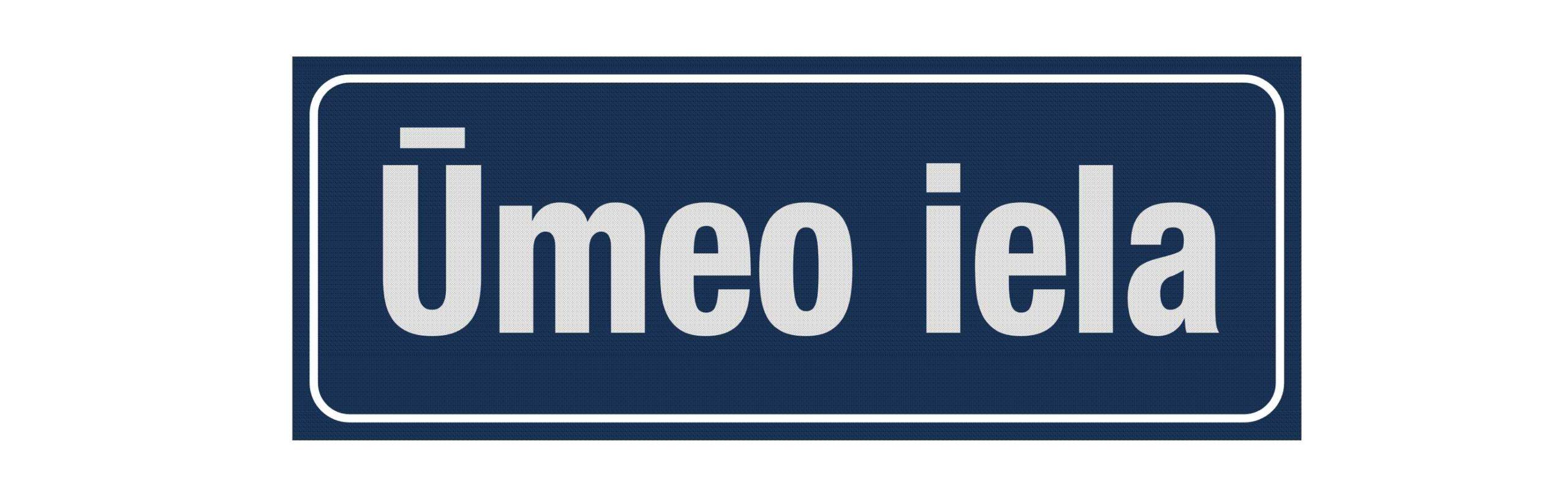 LATSIGN Ielas nosaukuma plāksne Rīga. Izmērs - 160 x 420 milimetri.