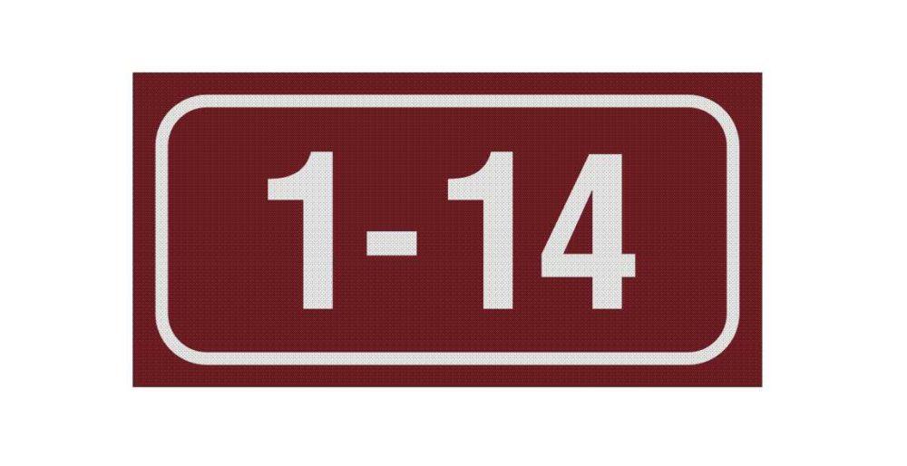 LATSIGN Mājas numura plāksne, dzīvokļu numerācijai – Inčukalns - 100 x 200 milimetri
