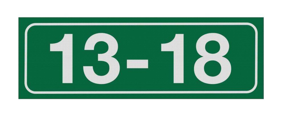 LATSIGN Mājas numura plāksne, dzīvokļu numerācijai – Mārupe - 100 x 300 milimetri