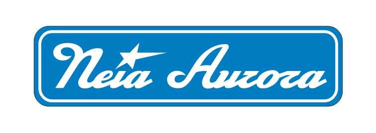 LATSIGN Informatīvā ratiņu vārda numura zīme zilā krāsā - Neia Aurora