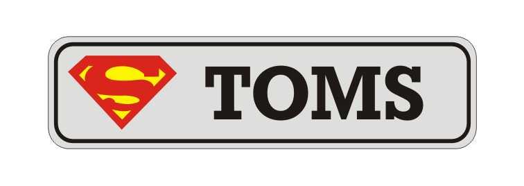 LATSIGN Informatīvā ratiņu vārda numura zīme Superman - Toms