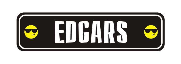 LATSIGN Informatīvā ratiņu vārda numura zīme melnā krāsā ar smaidiņiem - Edgars