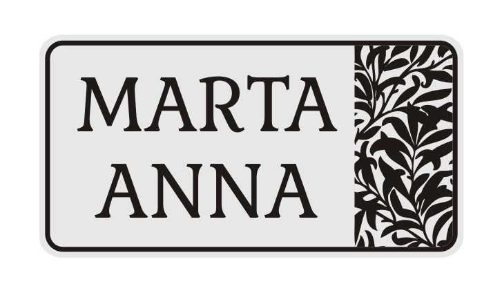 LATSIGN Informatīvā ratiņu vārda numura zīme ar lapu siluetiem - Marta Anna
